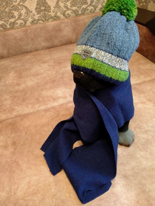 Шапка и шарф на мальчика 46 см, 115 см Житомир - изображение 1