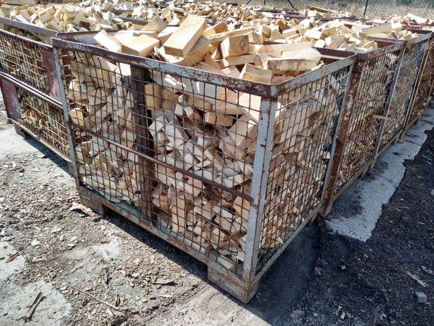 Drewno opałowe sosna w koszach(cena za 1 kosz)
