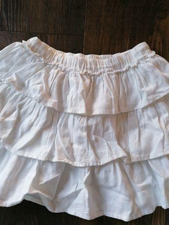 Piękna lniana spódniczka dla dziewczynki! 128 cm