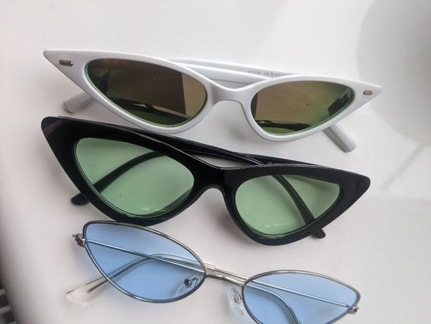 Очки солнцезащитные cat eye 3 пары