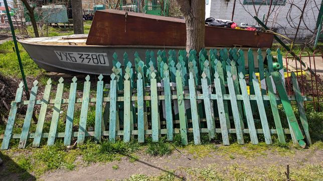 Красивый деревянный забор (штакетник) для дачи 1м высота, 13м длина