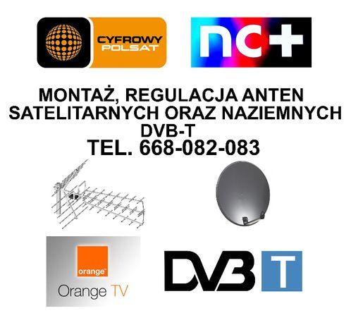 Montaż instalacja naprawa ustawianie anten satelitarnych oraz DVB-T