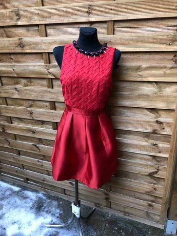 Nowa czerwona, elegancka, sukienka r.M/38, święta