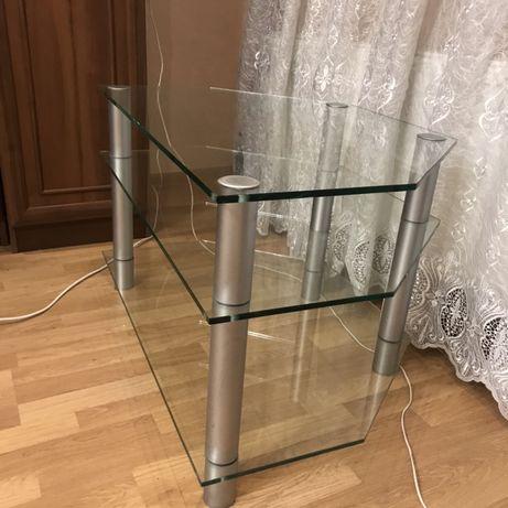 Стеклянный стол(тумбочка) под телевизор