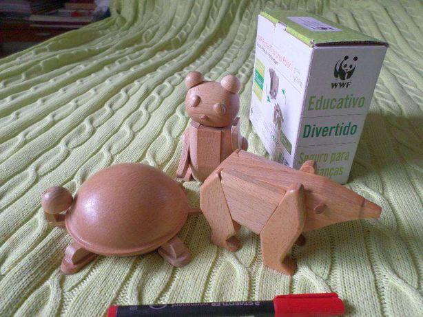 3 Puzzle madeira / quebra-cabeças 3D WWF