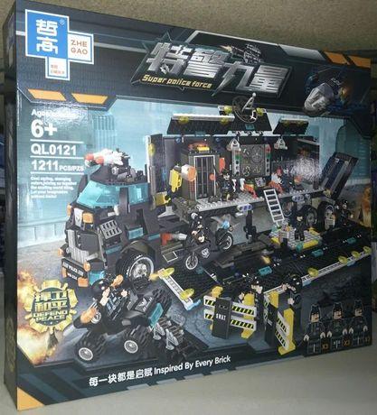 Конструктор Police Полицейская техника QL0121 1211дет Лего Lego