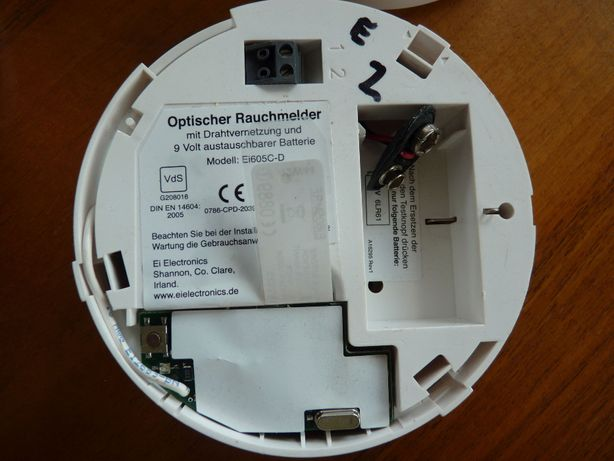 Optyczny czujnik dymu Ei605C-D z modulem RF Ei605MRF