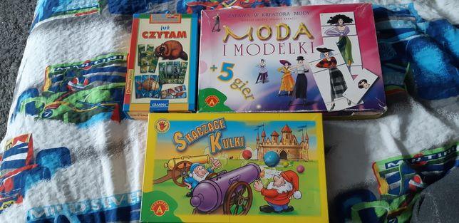 Trzy super gry Skaczące kulki, Już czytam Granna , Moda i modelki