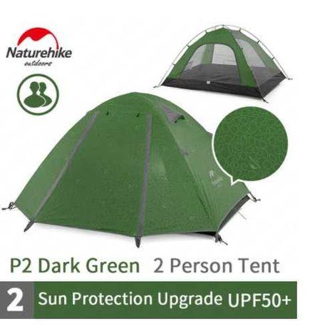 2-х местная Палатка Naturehike  P-Series 210T / 2.1кг / Намет