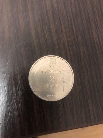 Продам монету 2 Гривны 2004 года!Михайло Дерегус