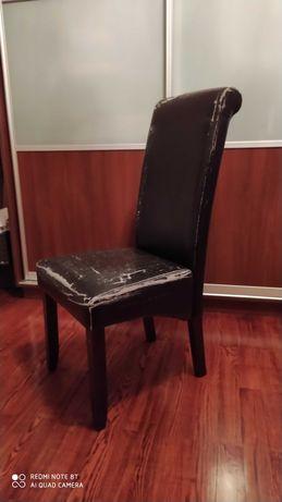Krzesła eco skóra do renowacji tanio