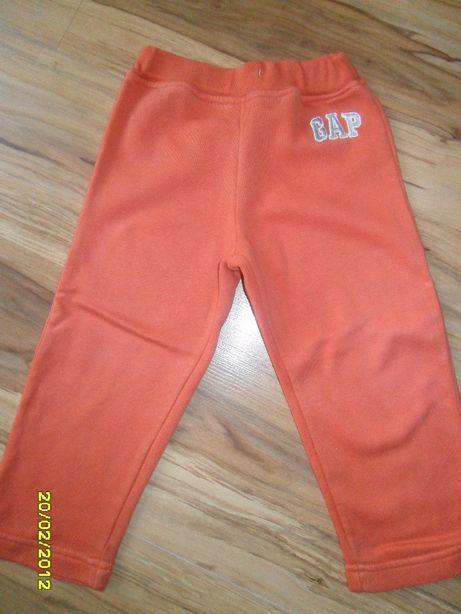 spodnie dresowe GAP 92 pomarańcz dres gumka