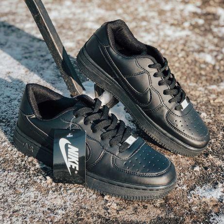 Кроссовки черные Nike Air Force Black  Найк Аир Форс!!!