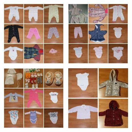Ubranka dla dziewczynki w rozm. 50-68