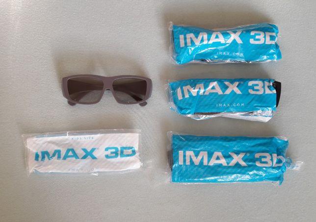 Okulary IMAX 3D zestaw 4 sztuk !!!