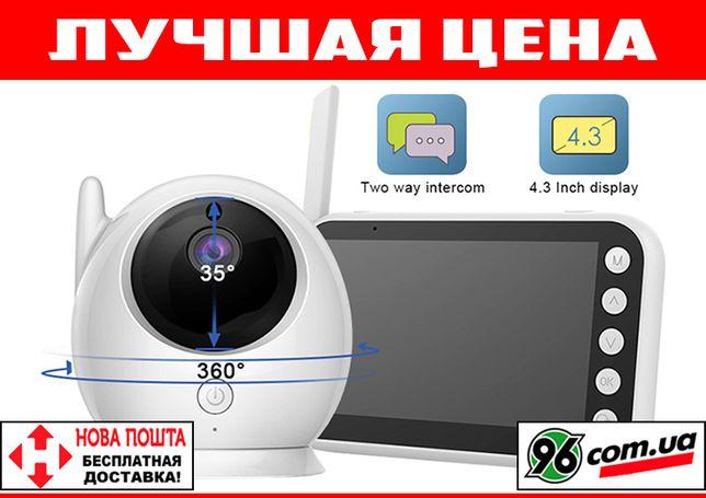 Видеоняня радионяня Baby Monitor ABM100 с большим дисплеем 4,3 дюйма