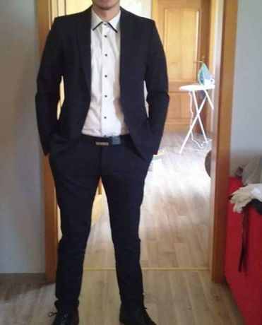 Elegancki garnitur zara