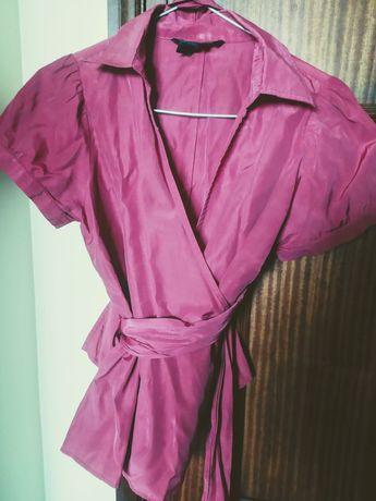 Blusa rosa + Polo manga curta verde