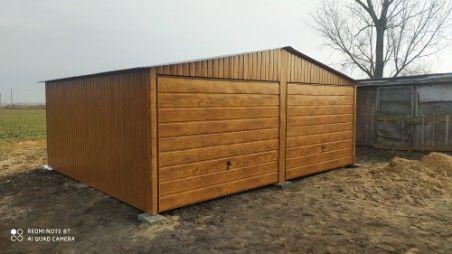 garaż blaszany garaz blaszak 6x5 6x6 7x6 OKUCIA producent   5x5 4x5