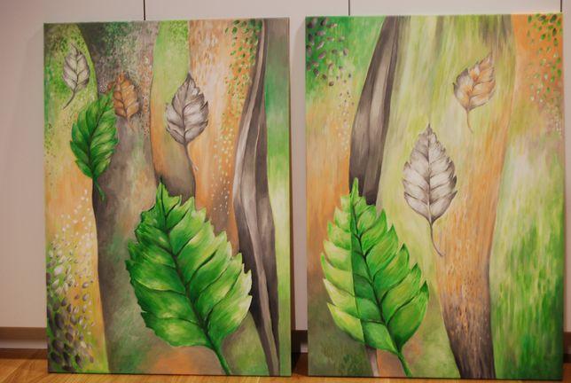 Obraz akrylowy ręcznie malowamy abstrakcja