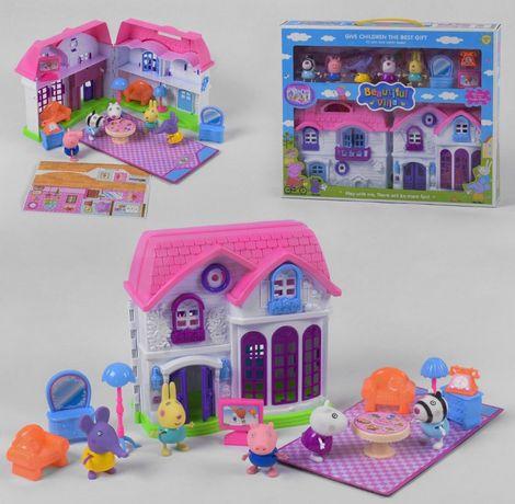 Домик Свинки Пеппы с мебелью, свет, звук + 5 героев.