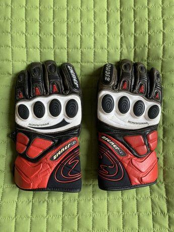 Skórzane profesjonalne rękawice narciarskie ZIENER, rozmiar 6