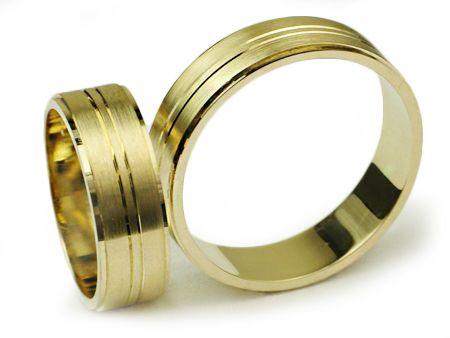 Złote Obrączki 585 I006 Jubiler Goldrun CHORZÓW - Bezszwowe!