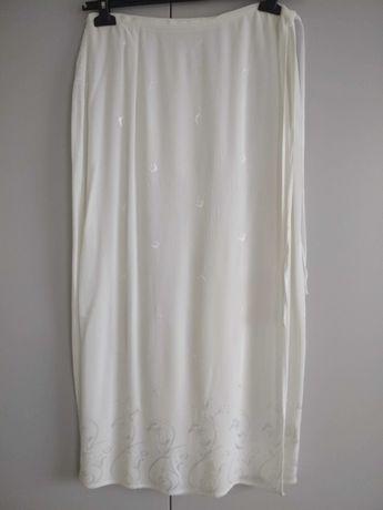 Pareo spódnica Bhs L 44 biały wiskoza maxi