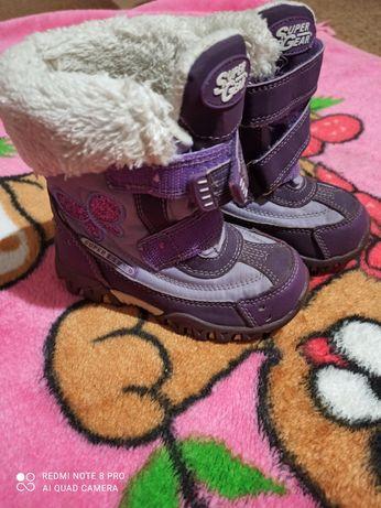 Продам фіолетові зимові термо ботинки