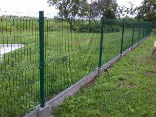 PROMOCJA! ogrodzenie panele FI4, 153 cm, słupek, obejmy, śruby