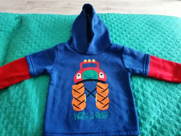 Bluza z kapturem dla chłopca rozmiar 68