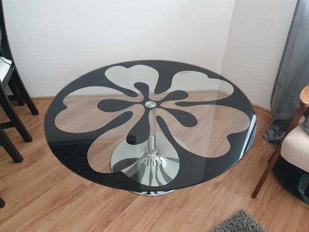 Stolik kawowy szklany okrągły