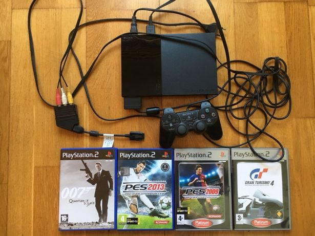 Vendo PlayStation 2 SLIM + 4 jogos