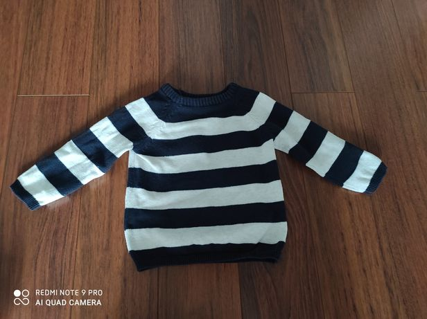 Sweter w paski H&M rozmiar 80