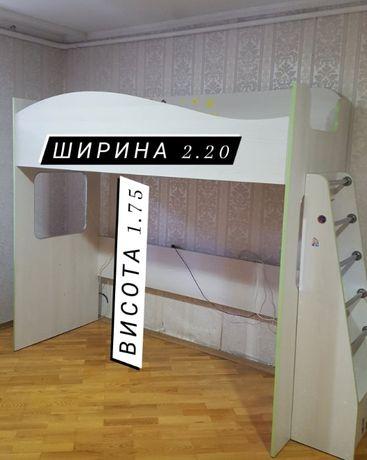 Ліжко для дитини (кровать детская) 2 й ярус з матрацом або без)