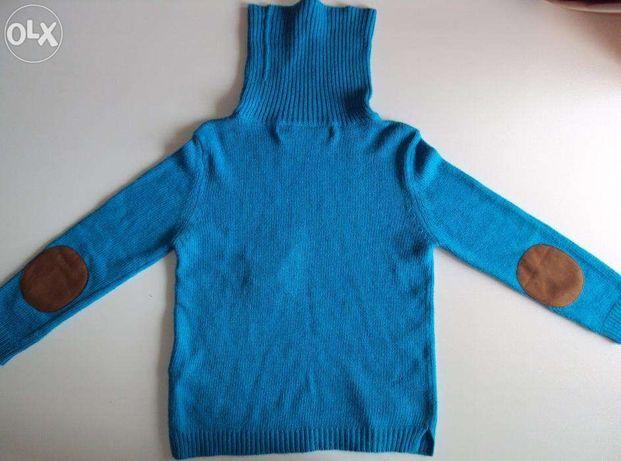 Sweter golf niebieski Zara S/36
