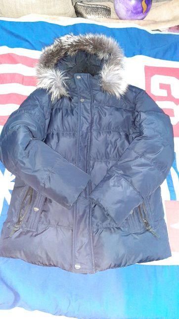Зимняя куртка с натуральным мехом на мужчину (подростка) 48р М