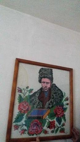 Вишитий вручну портрет Тараса Шевченка