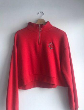 Bluza czerwona z kwiatkiem damska marki DIVIDED