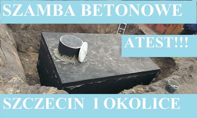 Szamba betonowe na ścieki 6m3 szambo 4-12 zbiornik zbiorniki Szczecin