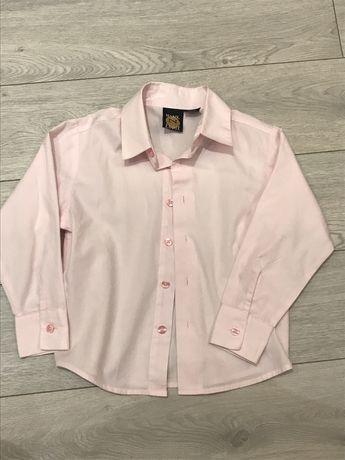 Рубашка на мальчика 55% х/б, р.116, состояние новой