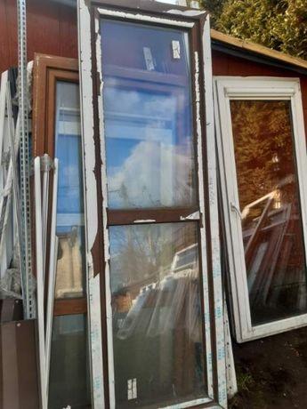 Nowe okno balkonowe PCV VEKA o wymiarach 780 na 2400