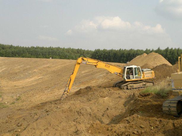 Prace ziemne, usługi koparką i ładowarką, kopanie, pogłębianie stawów