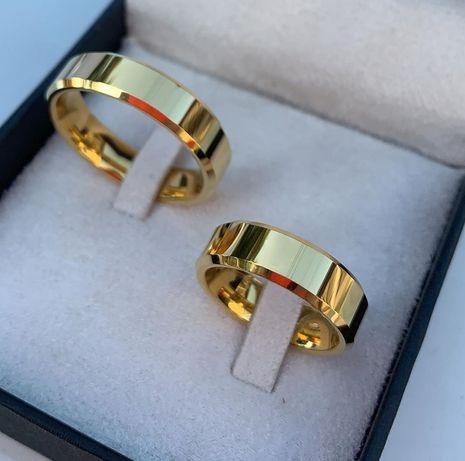 Elegancki Duet Złotych Obrączek Ślubnych
