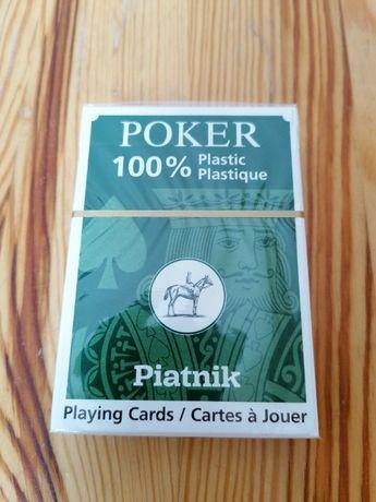 Karty PIATNIK Plastik Poker nowe pojedyńcze