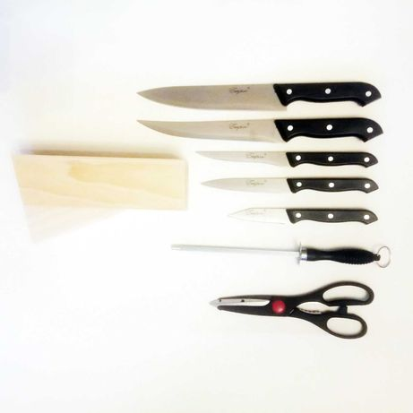 Набор кухонных ножей Empire 8 в 1; Открывалка; Нож 1мм; Точилка ручная