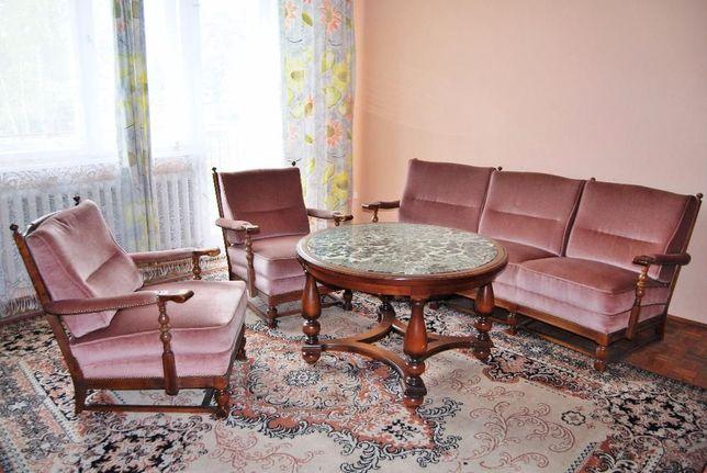 Zestaw wypoczynkowy, stylowe fotele, kanapa, stół/stolik kamienny blat