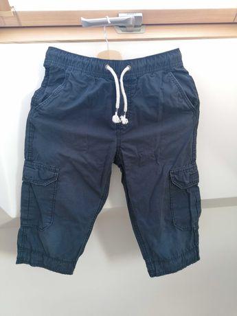 Spodnie bojówki H&M, za kolano, granatowe, 152
