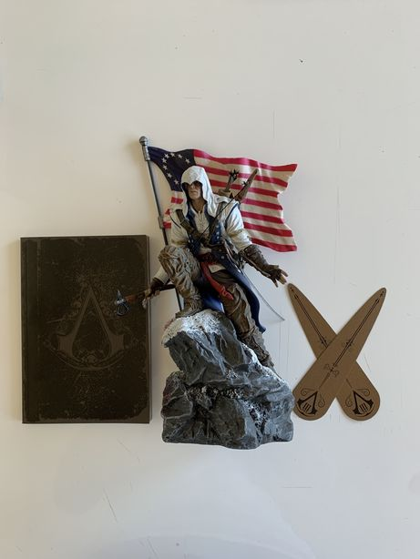 Estátua de colecionador Assassins Creed 3 + artbook + 2 bookmarkers