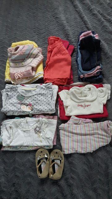 Paczka paka ubranek (21 szt.) dla dziewczynki r.80-86